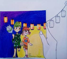 Childhood Memory--(Overwatch Genji 'n' Tracer)