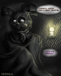 Nightmare Bonnie nightlight by Uitinla