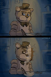 Freddy Pie To The Face by Uitinla
