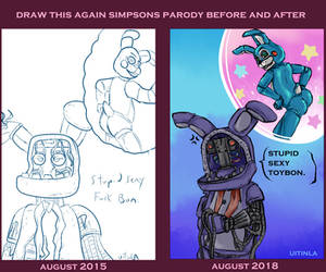 Simpsons Parody Before And After by Uitinla