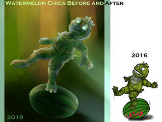 Watermelon Chica Before And After by Uitinla