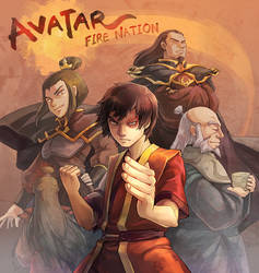 Avatar : Fire nation by Mushstone
