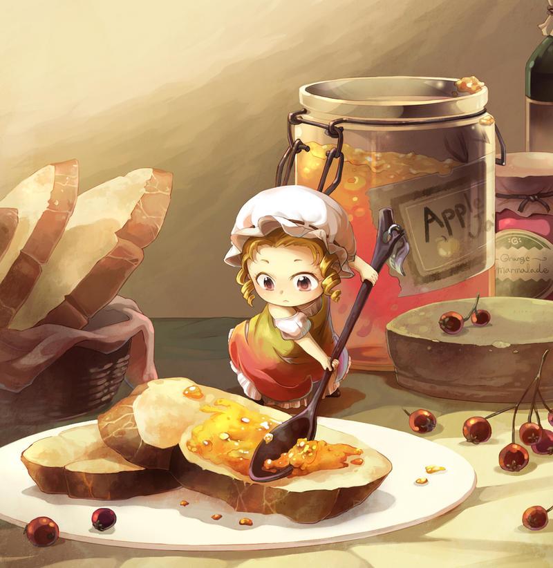 Apple jam  fairy by Mushstone
