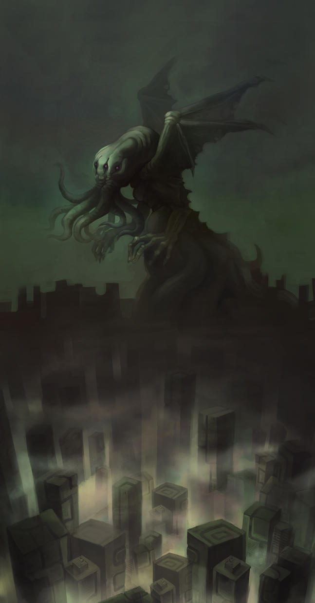 Cthulhu in Rlyeh by Mushstone