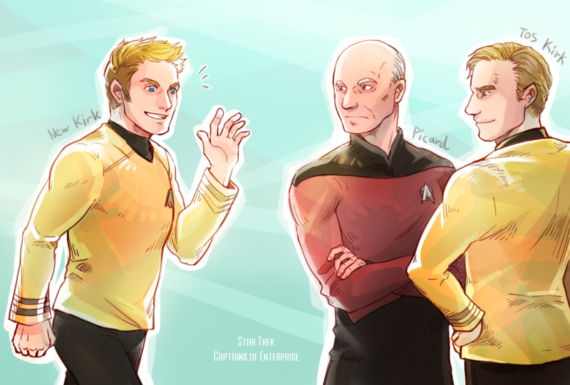 Star Trek : Captains of Enterprise by Mushstone