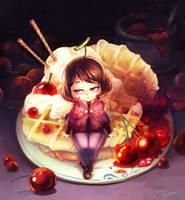 Cherry jam fairy by Mushstone