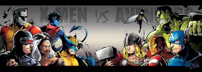 X-men VS Avengers by Mushstone