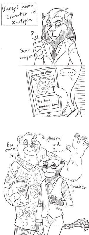 Disney Character in Zootopia