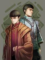 Star Trek : Vulcan and Romulan by Mushstone