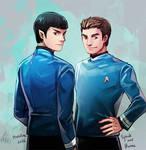 Star trek : Double blue shirts