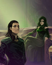 Thor 3 Ragnarok : Hela and Loki by Mushstone