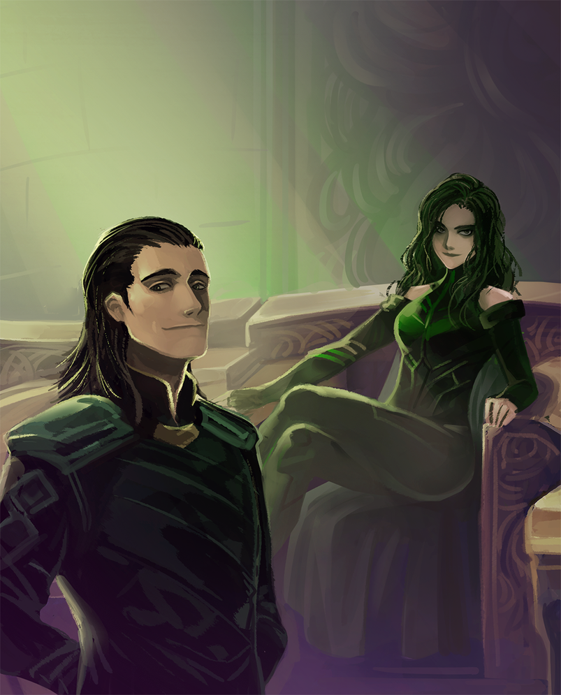 thor_3_ragnarok___hela_and_loki_by_mushs