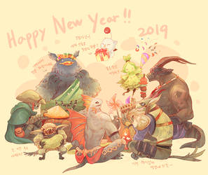 Final Fantasy XIV : Happy New Year by Mushstone