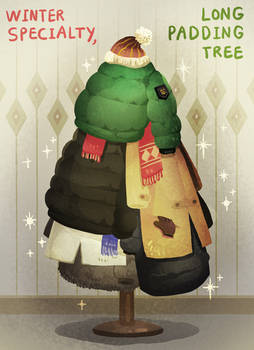 Winter office Christmas tree
