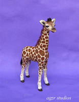 Baby Giraffe Handmade 1:12 scale by AGZR-STUDIOS
