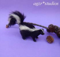 Ooak 1:12 Handmade Miniature SKUNK by AGZR-STUDIOS