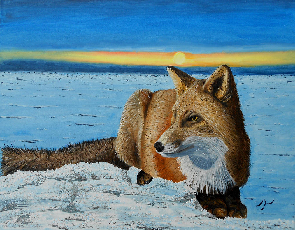 Tundra Fox by Abuttonpress2Nothing