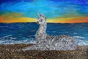 Lounging lama by Abuttonpress2Nothing