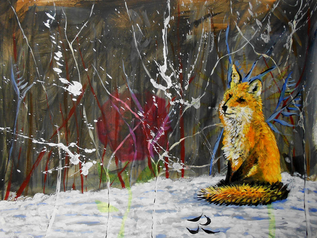 The lone fox by Abuttonpress2Nothing