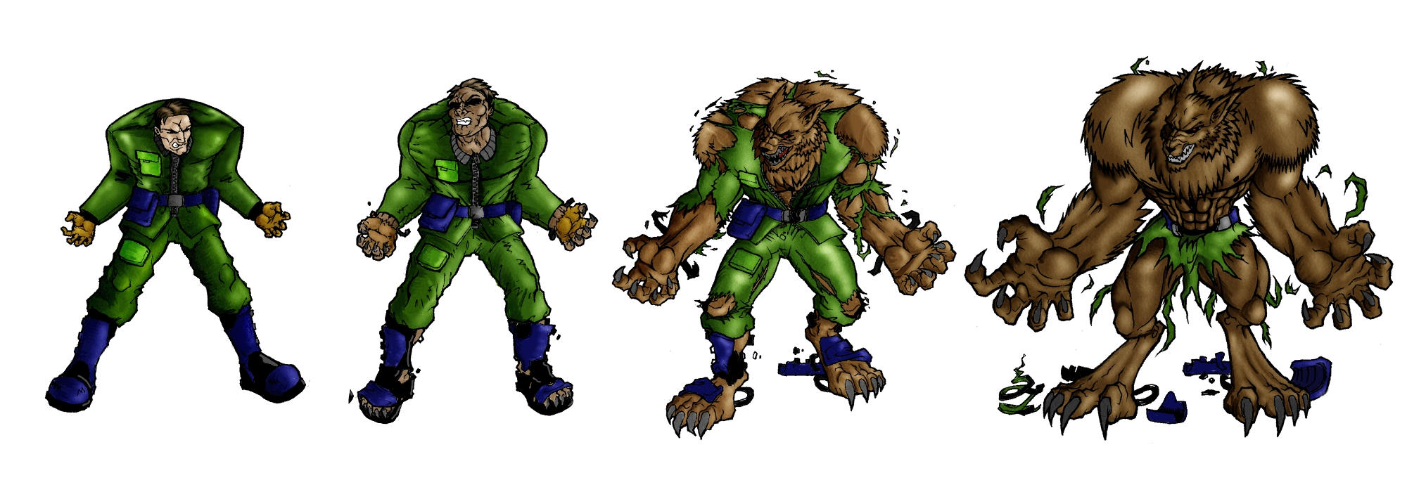 Werewolf Cartoon Transformation Comic | www.imgkid.com ...
