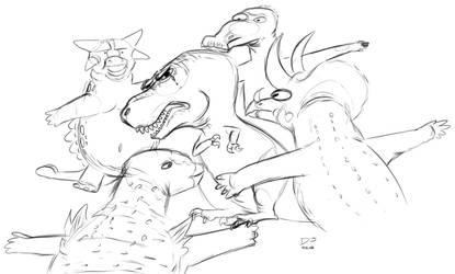 the extermination of Tyrannosaurus by DinosaurDJ
