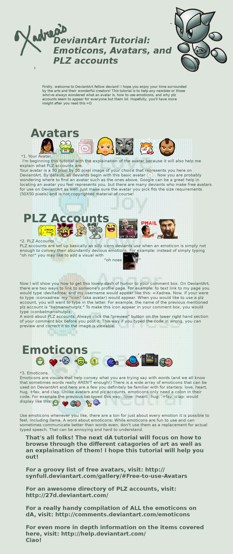 dA Tutorial:Emoticons+Avatars by Xadrea