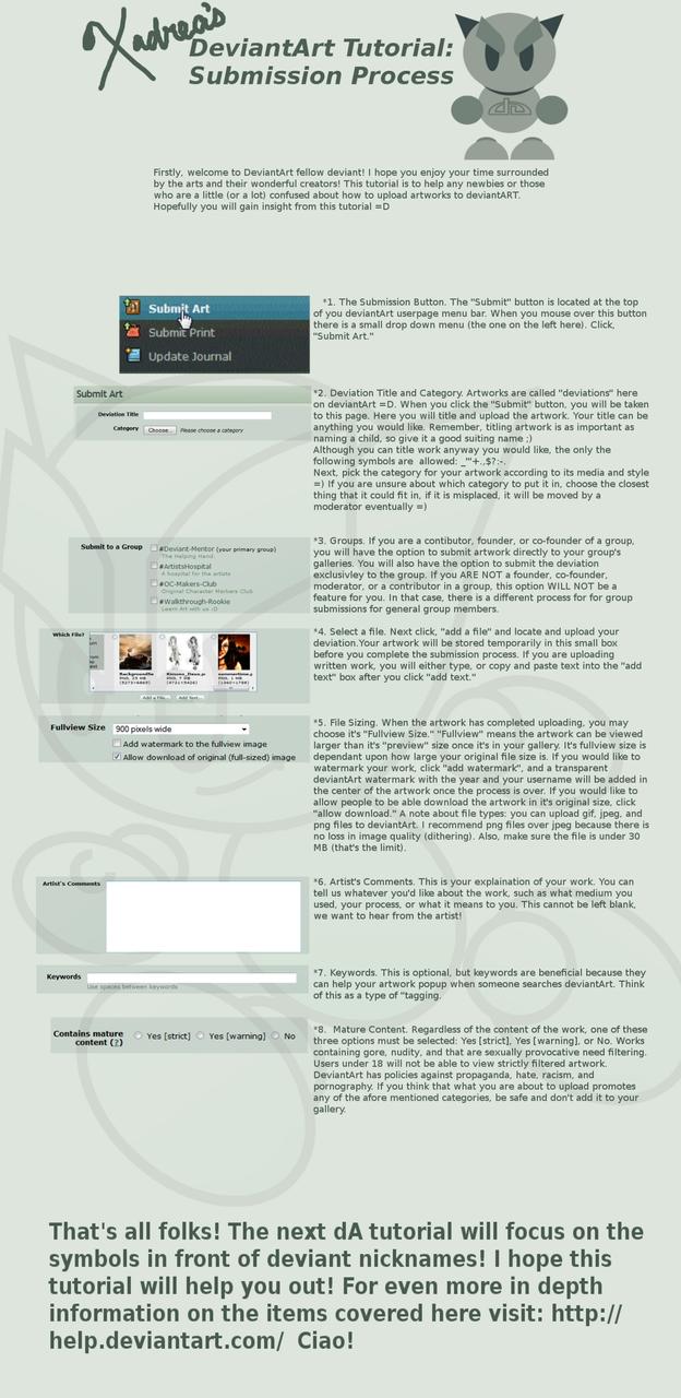 DA Tutorial:Submission Process by Xadrea