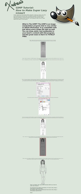 GIMP Tutorial: Lazy Lineart by Xadrea