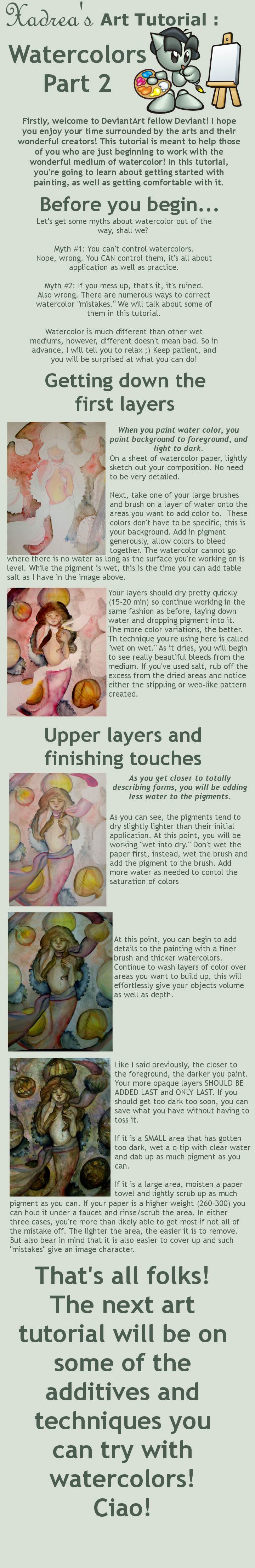 Art Tutorial: Watercolors Prt2 by Xadrea