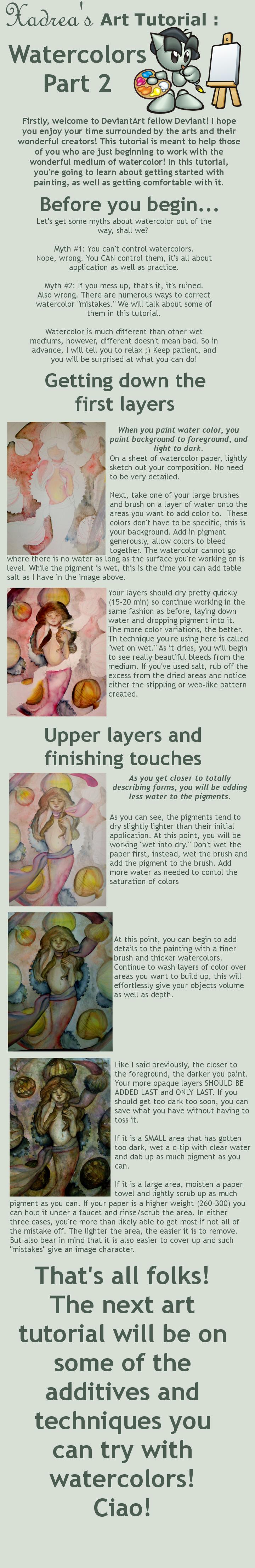 Art Tutorial: Watercolors Prt2 by Xadrea