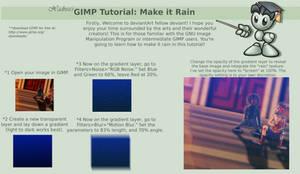 GIMP Tutorial: How to Make it Rain