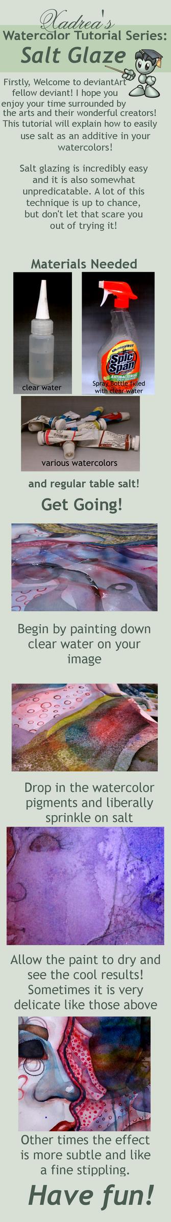 Watercolor Tutorial: Salt Glaze by Xadrea