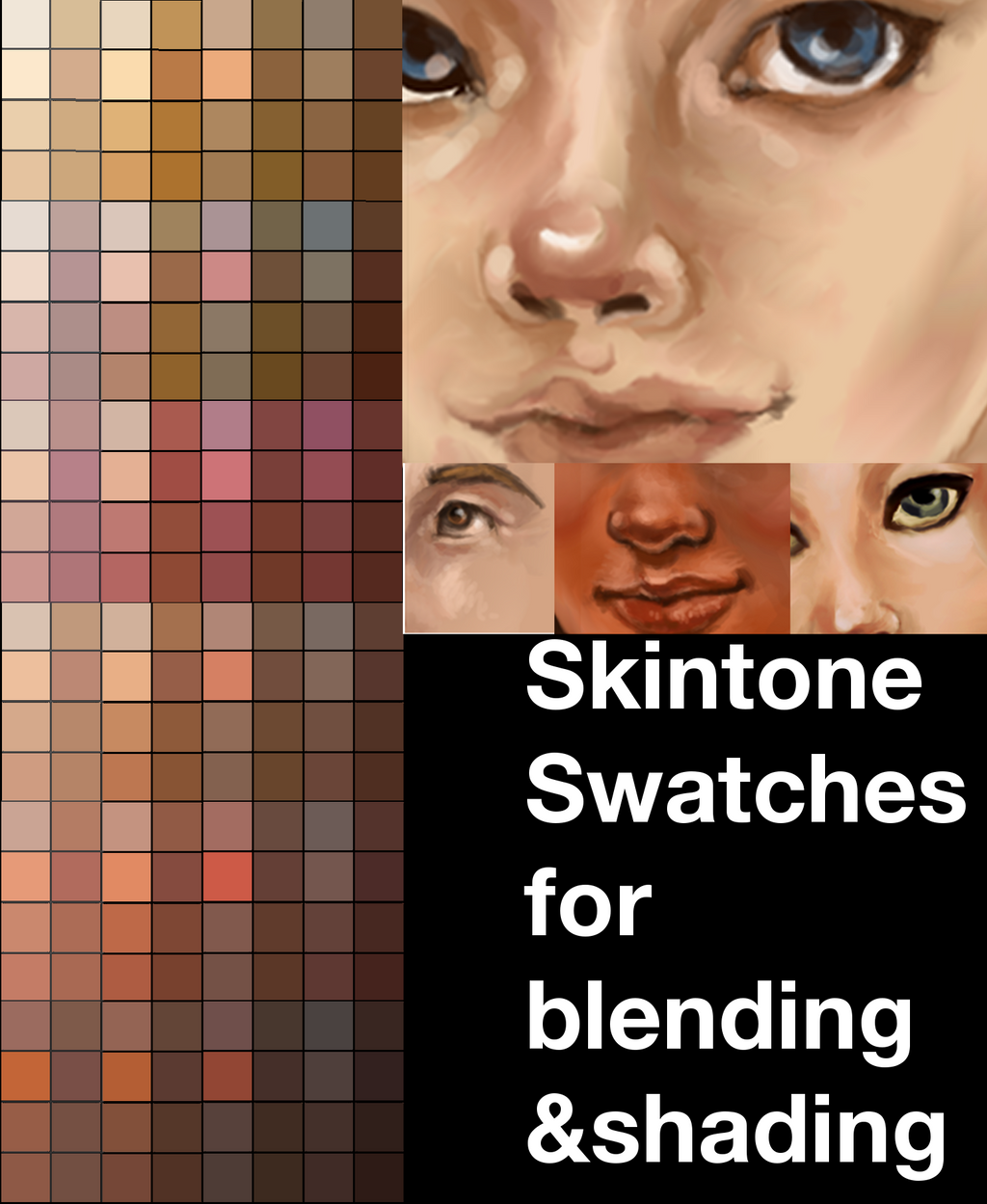Skintone Swatches II by Xadrea