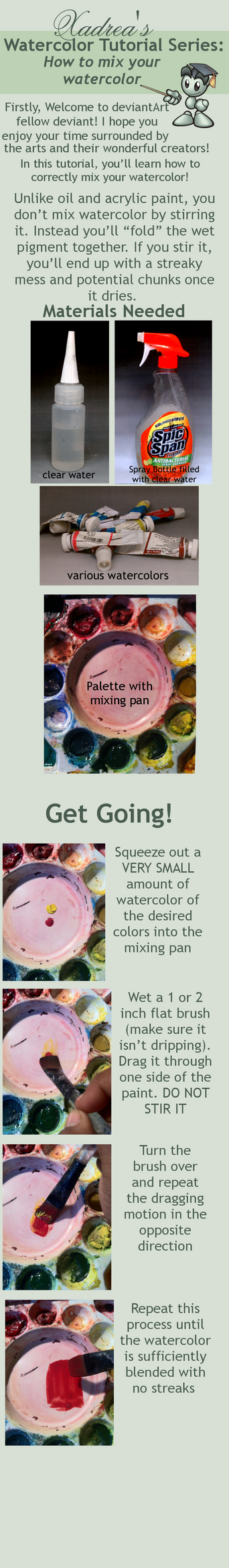 Watercolor Tutorial: How to Mix Watercolor