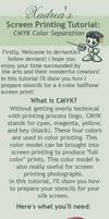 Screenprinting Tutorial: CMYK Separation by Xadrea