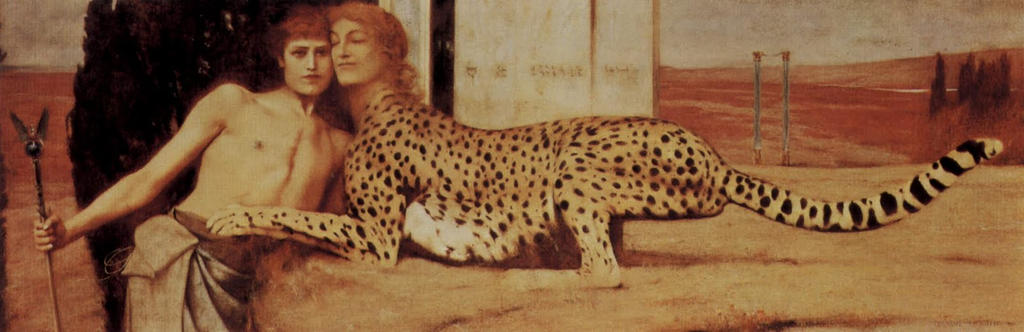 Fernand Khnopff Sphinx Caresses by Xadrea