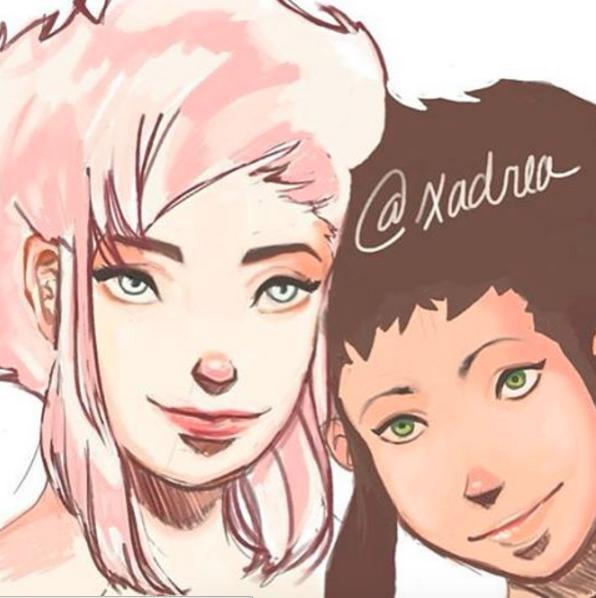 Shinobu and Tita Uchida WIP2 by Xadrea