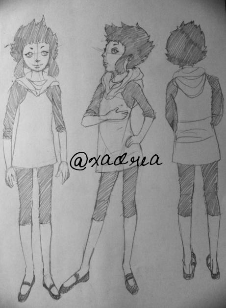 Shinobu costume sketch by Xadrea