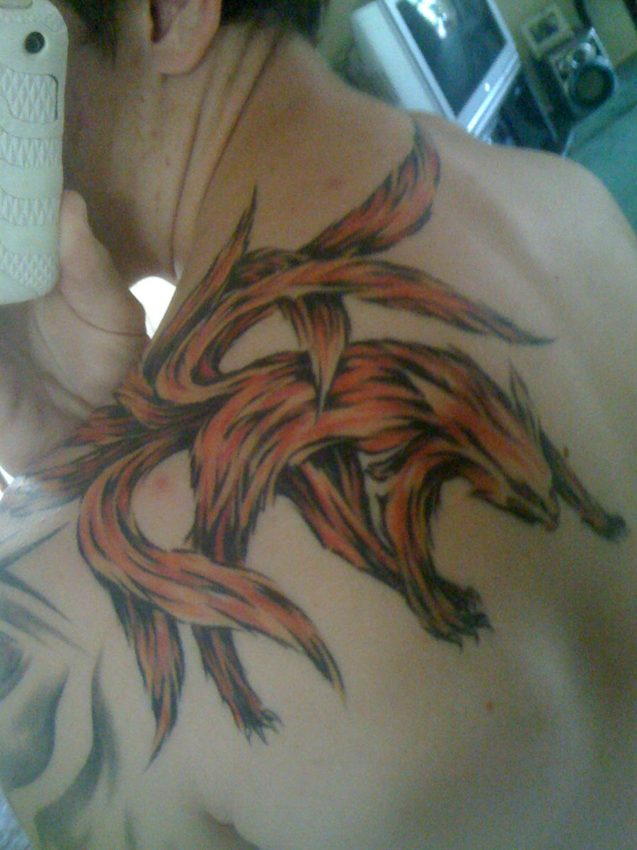 Kyuubi tattoo by Cur