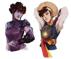 Black Lily and Hong Gildong [Overwatch] by darwh