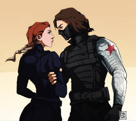 Bucky and Nat [Winter Soldier x Black Widow]