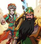 Opera Brigitte and Guan Yu Reinhardt [Overwatch] by darwh