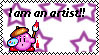 kirby as an artist -stamp- by shadowandtikalfan