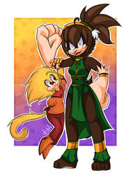 Jose and Toph by LilaTheFireFox