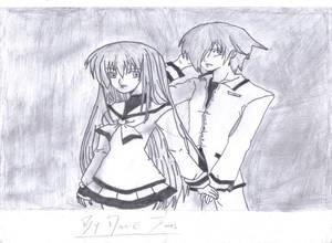manga girl and boy