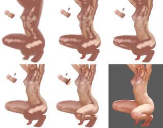 Anatomy Process 1 by chacuri