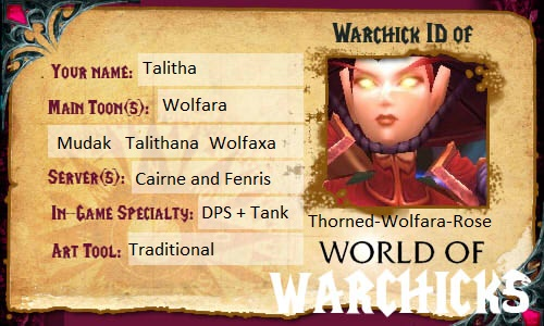 World of Warchicks ID by Thorned-Wolfara-Rose