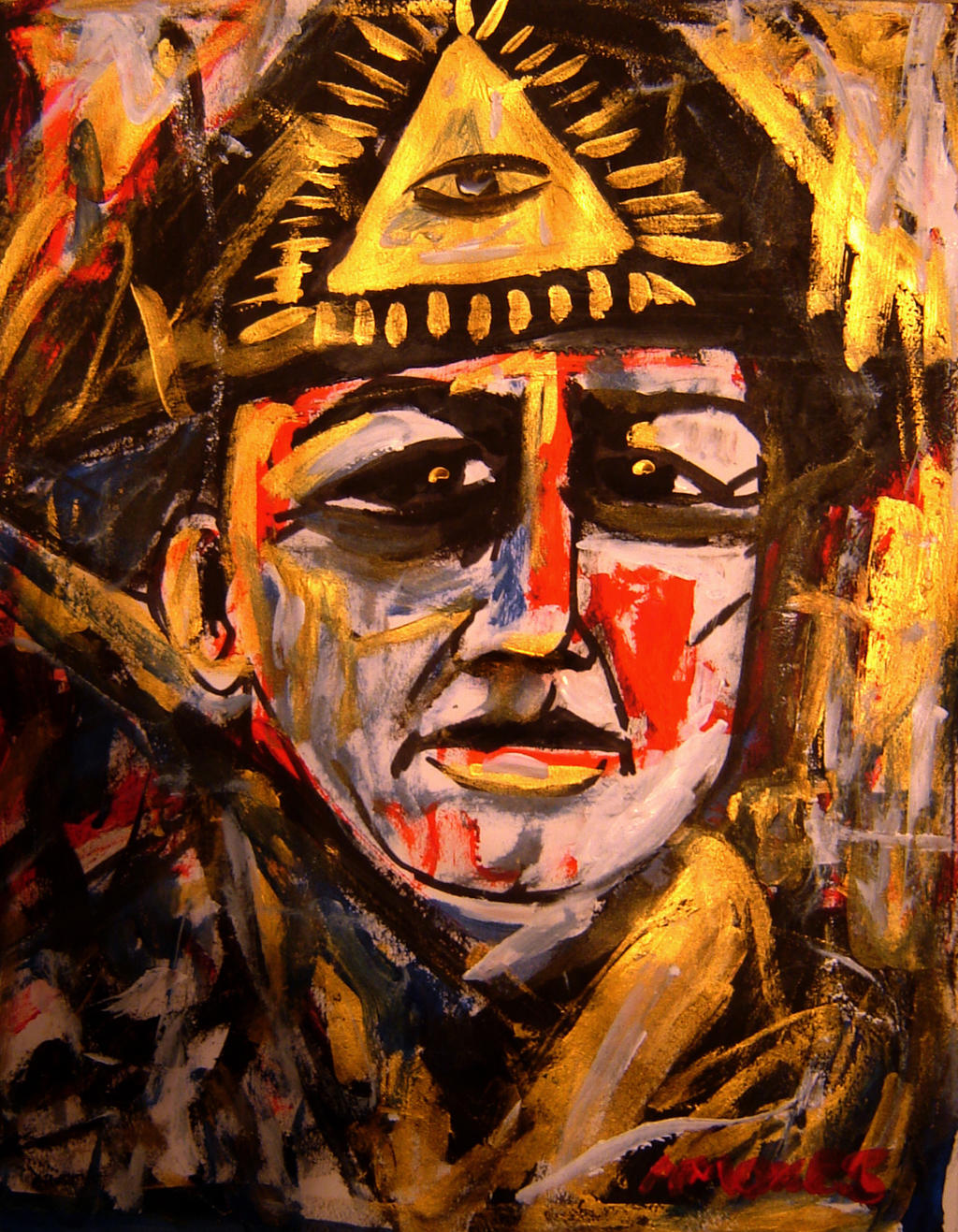 Aleister Crowley by amoxesAleister Crowley Paintings