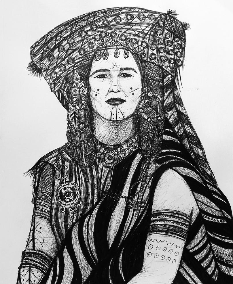 Women of the Caravane, Bic serie 2 Drawing no 33 by amoxes