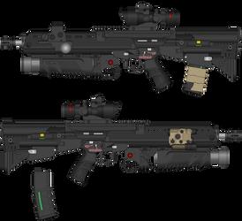 Sigil Armouries SA-51 Rifle by TheMakoHighlander
